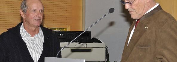 Verbandsehrenzeichen in Silber für Toni Caumo